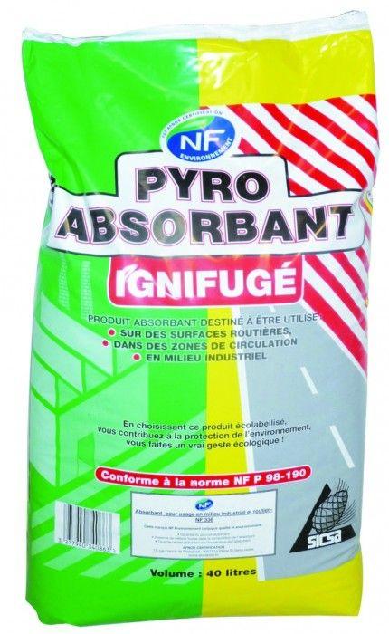 Pyro absorbant ignifugé