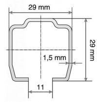 Rail tubulaire - série Suprême - longueur 6 m