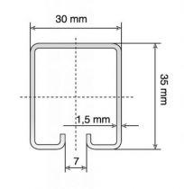 Rail tubulaire pour série Trendy - Longueur 6 m