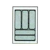 Range couverts plastique gris recoupable de 441 à 520 mm