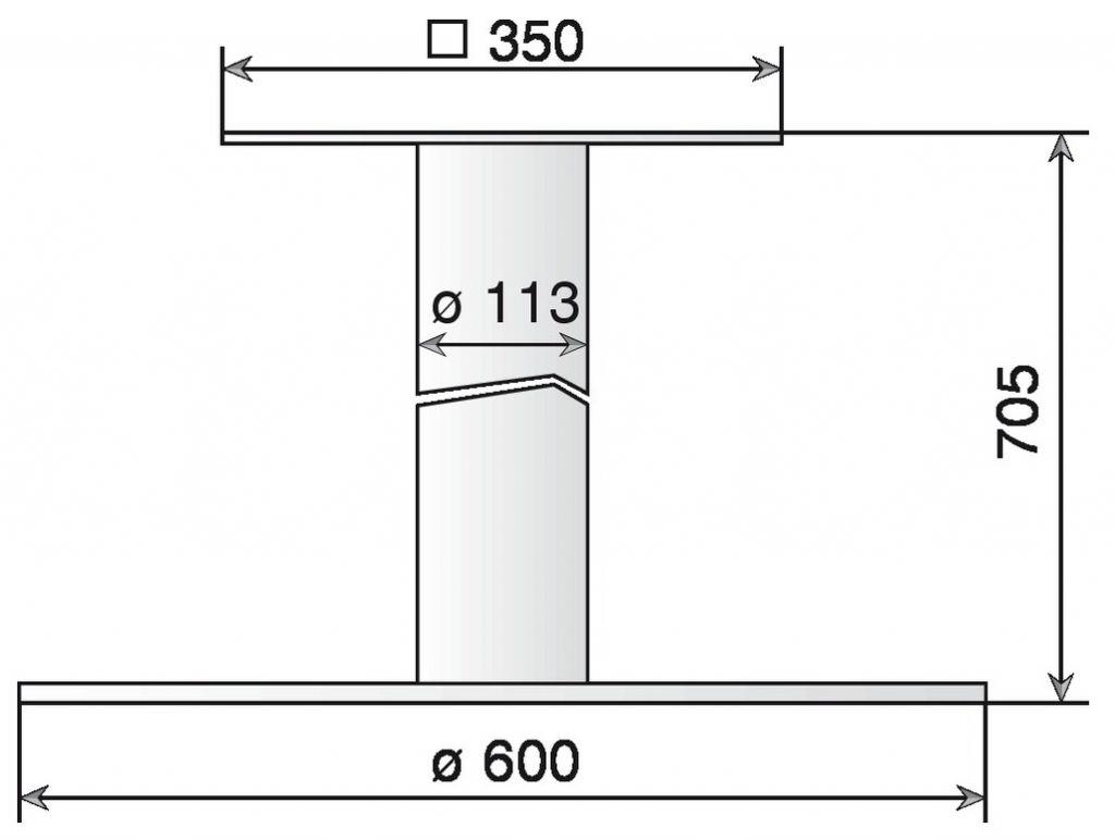Rond ø 113 mm - hauteur 705 mm