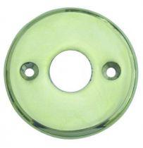 Rosace seule ronde - épaisseur 3 mm - ø 45 mm - laiton poli