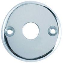 Rosace seule ronde - épaisseur 5 mm - ø 50 mm - chromé