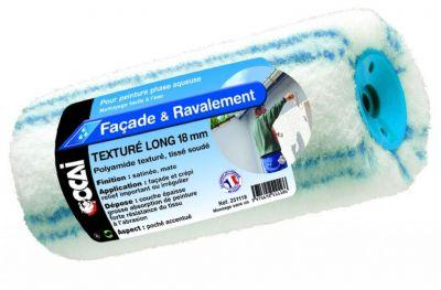Rouleau polyamide texturé long poils longs