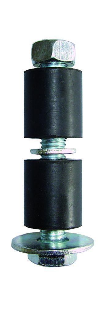 Roulette pour l\'équipement des collectivités fixation expansible élastomère pour tubes ronds