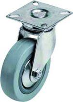 Roulette pour l\'équipement des collectivités novoplex - à platine 50 x 50 mm