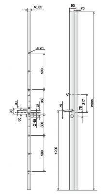 Série Exclusive A2P*** - Pour hauteur maxi de 2500 mm - 6 points