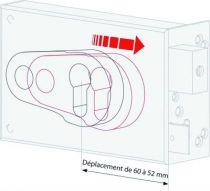Série Métalux réglable ND 10 horizontale à fouillot - Carré de 6 mm