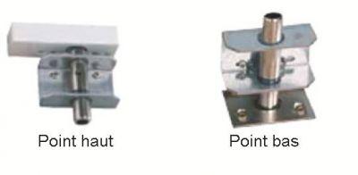 Serrure bandeau A2P*** kit points haut et bas pour Exclusive 4 / 6 / 8 points réversible