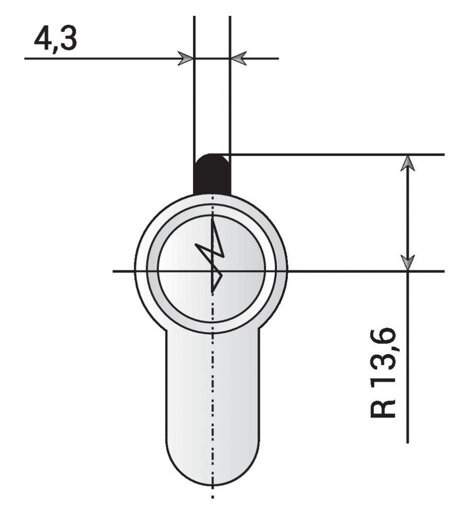 Serrure pour menuiserie métallique - Cylindre spécial