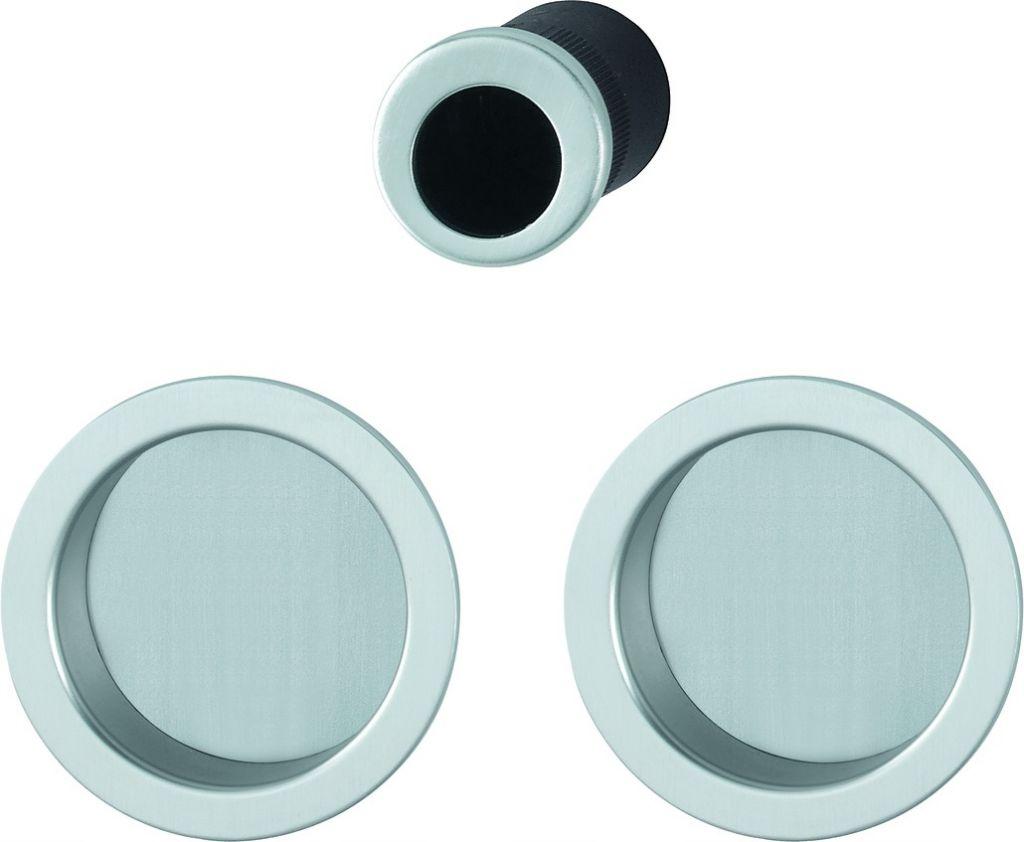 Set de porte coulissante pour porte int rieure aluminium aveugle mod le 4920 - Porte coulissante aluminium ...