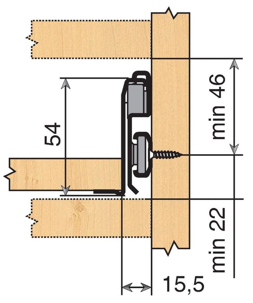 Sortie totale Blum METABOX - charge dynamique 30 kg