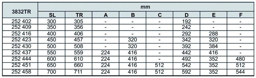 Sortie totale DB 3832 TR / 42 - 45 kg