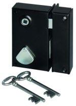 Sûreté à 4 gorges Devismes verticale à fouillot - Carré 7 mm - 2 clés
