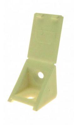 Taquet d\'assemblage plastique en applique - livré avec couvercle