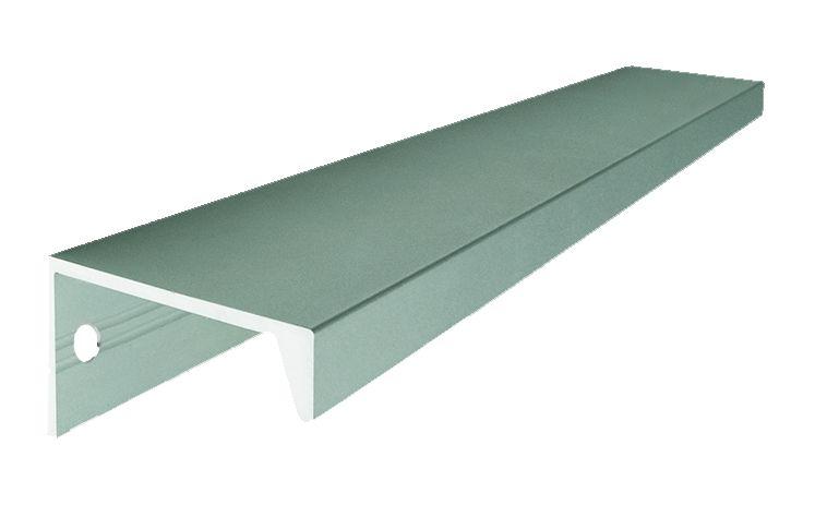 Tirette - aluminium anodisé argent