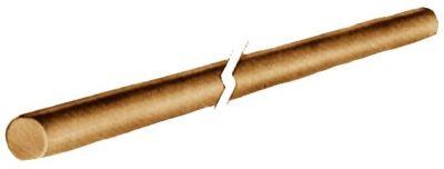 Tourillon bois - hêtre lisse - longueur 1 m