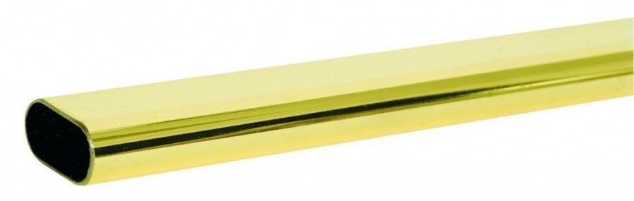 Tube ovale acier - longueur 3 m - laitonné