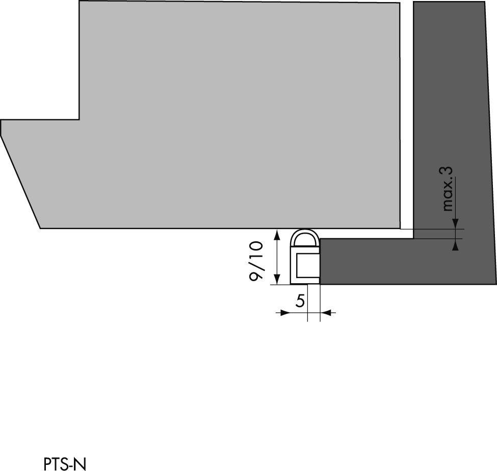 Type PTS-N - longueur 3 m