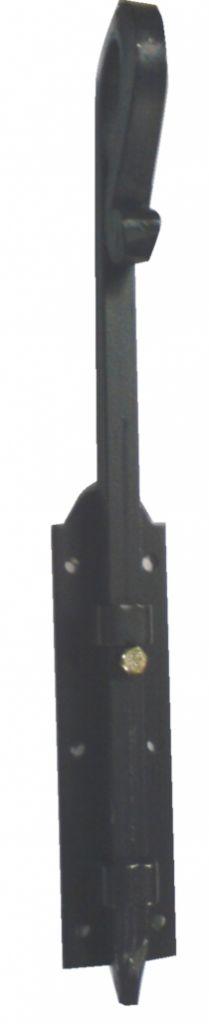 Verrou de barrière pêne carré de 14 mm - longueur 400 mm
