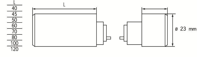 Verrou de sûreté haut et bas cylindres ronds pour série Véga