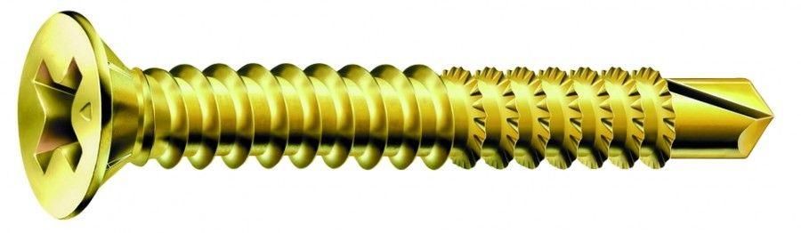 Vis acier bichromaté - filetage total - tête fraisée Phillips FEX type A