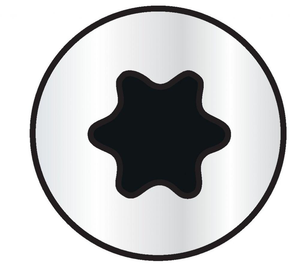 Zingué blanc - tête fraisée - T-Star plus